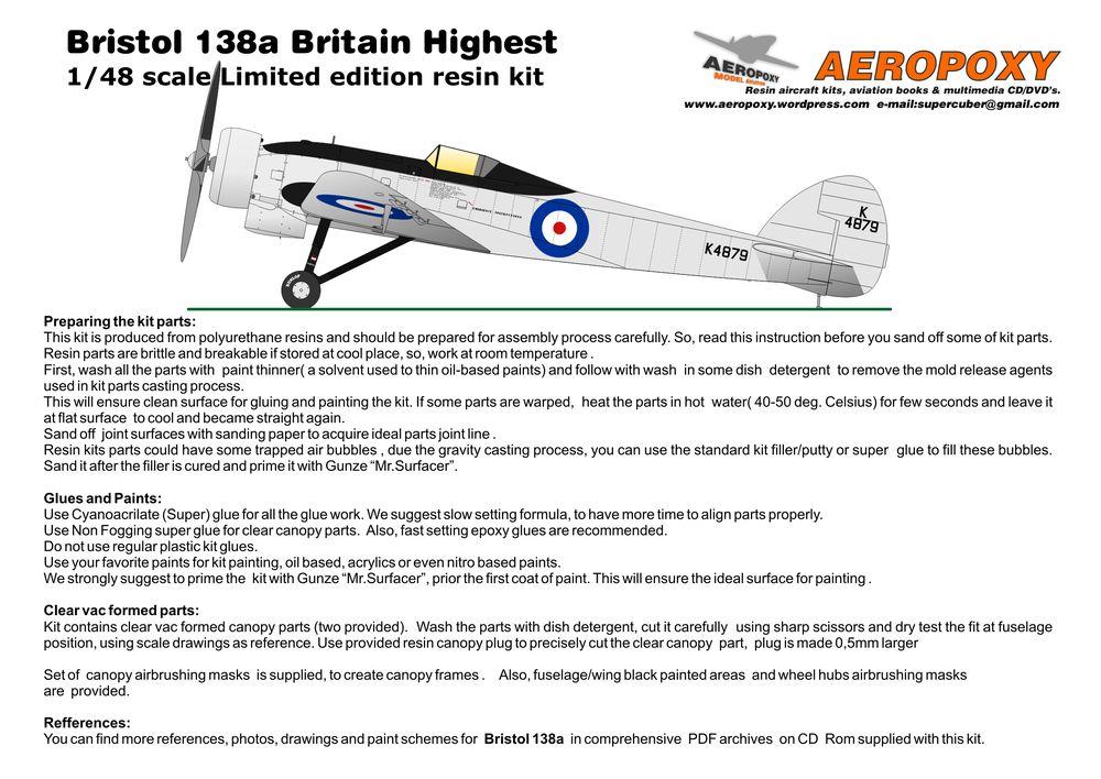 Bristol 138a uputstvo pg1